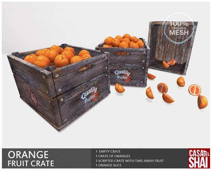 *Shai* Orange Crate - Mesh