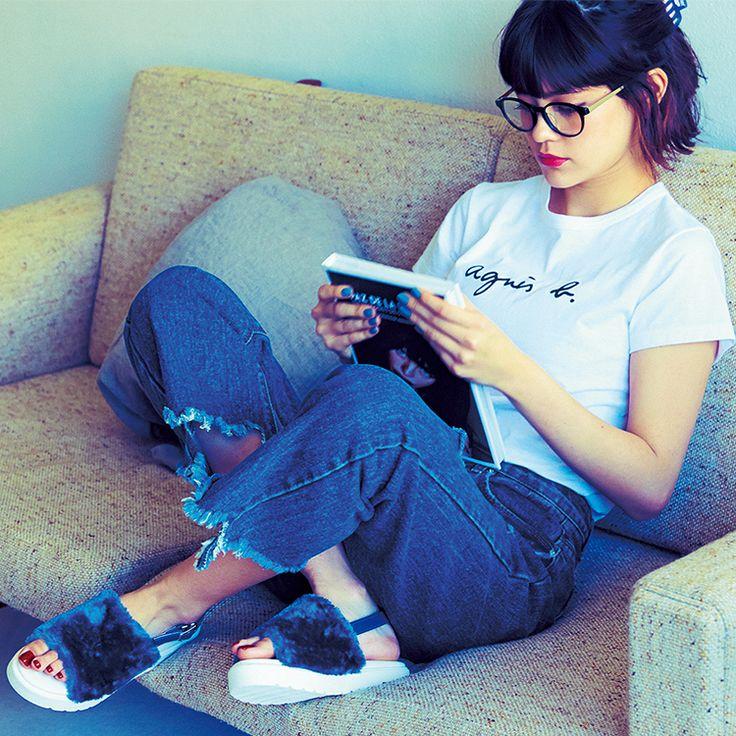 大流行中!! アニエスベーのロゴTが可愛い&使える! emma流着回しコーデも紹介|NET ViVi|講談社『ViVi』オフィシャルサイト
