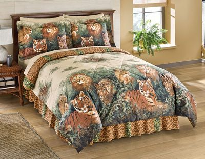 Wildcats Exotic Jungle Comforter Set With Bedskirt The