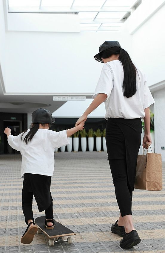 Mother and Daughter matching fashion. cool. #fashion