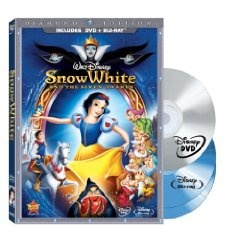 Snow White and the Seven Dwarfs (Three-Disc Blu-ray/DVD Combo + BD Live w/DVD packaging) (1937), (disney, blu-ray, animation, disney blu-ray, classics, walt disney, disney classics, high definition, 1937, movie)