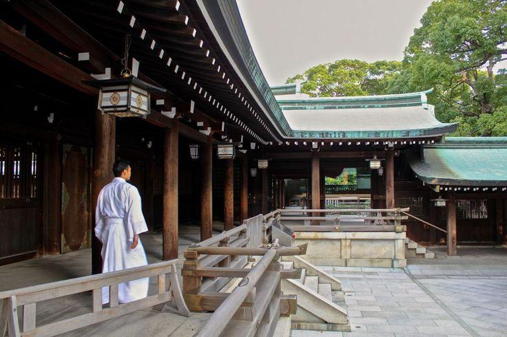 Jeune moine dans le sanctuaire Meiji à Tokyo   © Aurélie Morin