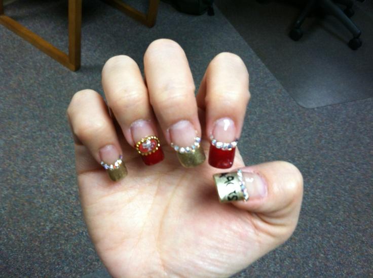 49ers nail art   49ER FAITHFUL   Pinterest