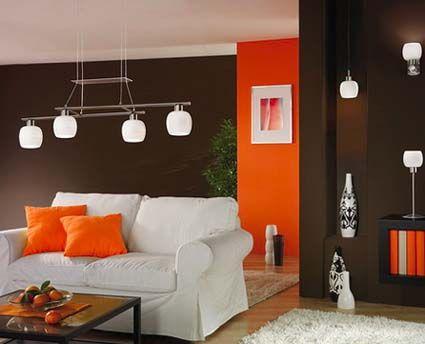 Color naranja en la decoración