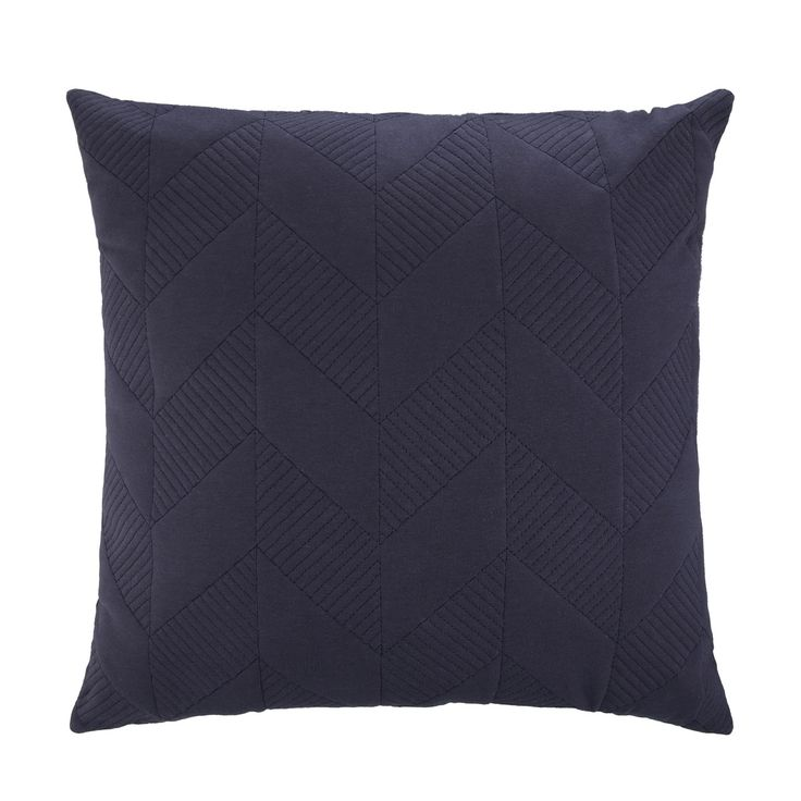 Quilted Geo Cushion - Blue | Kmart