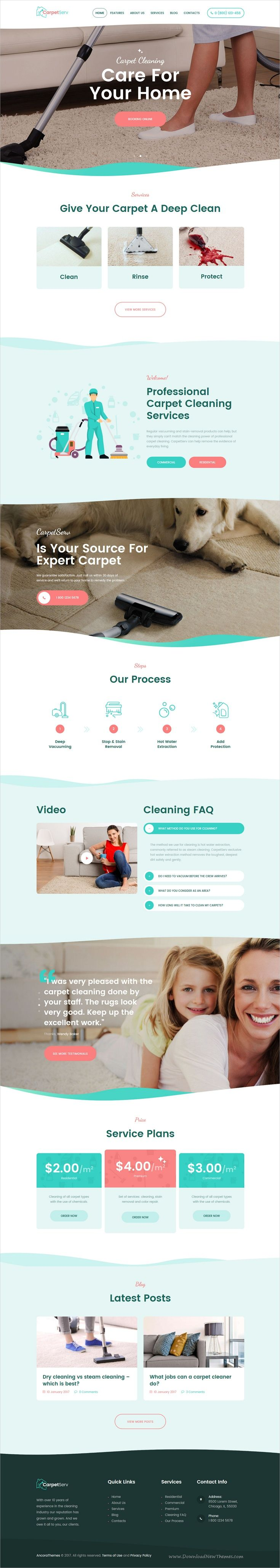 CarpetServ is clean and modern design responsive #WordPress theme for #cleaning service, maid service, #janitorial and maintenance service companies websites download now > https://themeforest.net/item/carpetserv-cleaning-company-janitorial-service/19985232?ref=Datasata