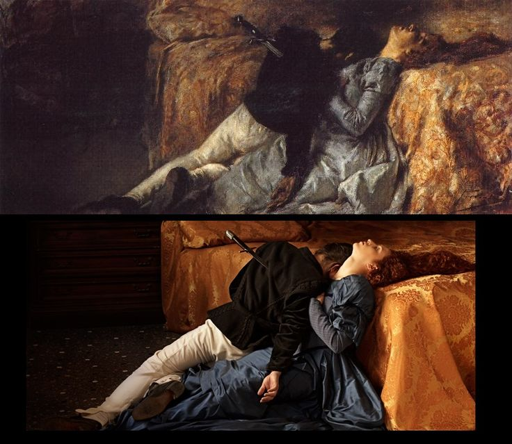 Paolo and Francesca by Gaetano Previati (1887) / The Lovers by The Essence of Decadence http://www.tanialazlo.com/the_essence_of_decadence.html