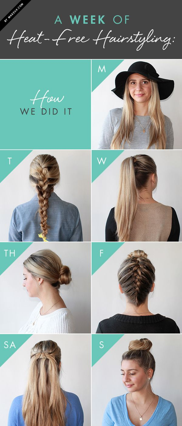 Put down your straightener and curling iron. We show you how to style your hair, no heat required!