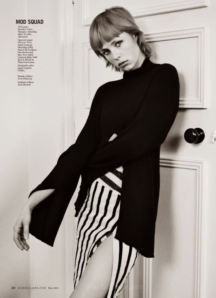 """Chelsea Girl"" Edie Campbell for Marie Claire US May 2015"