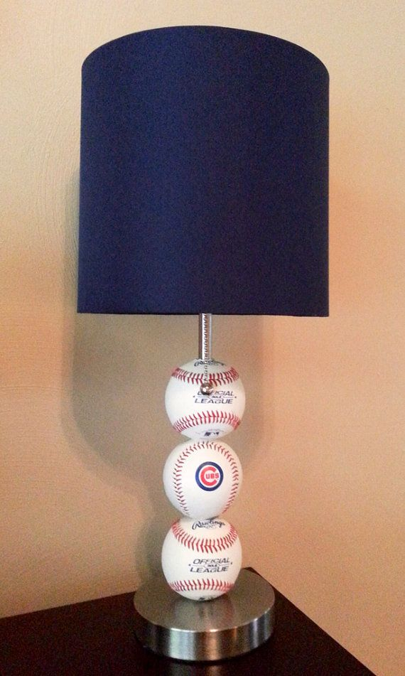 Chicago Cubs Baseball Lamp Etsy Listing 188785651