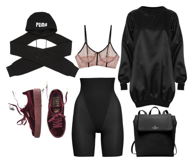 """""""Work work"""" by claribelc on Polyvore featuring SPANX, Puma, Fleur du Mal, The Ragged Priest and Kate Spade"""