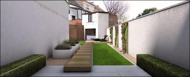 City Garden design 3D #landscaper timothy cools #tuinarchitectengroep eco belgium #tuinontwerp en tuinaanleg