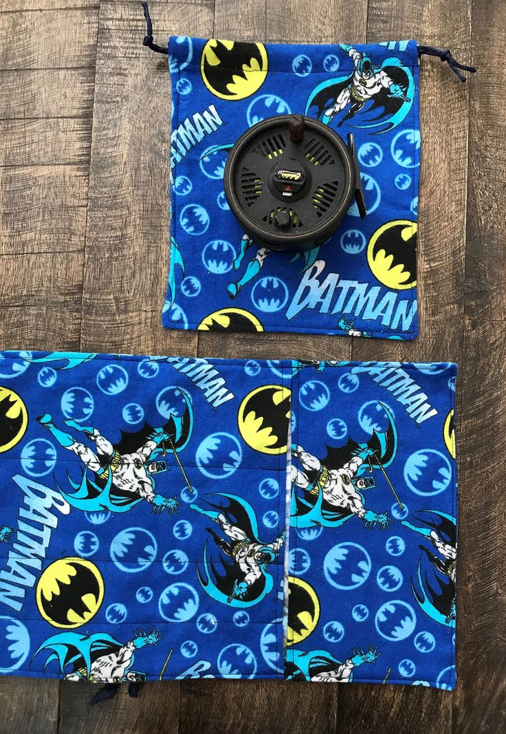 Fly Fishing Rod Sleeve and Reel Bag Jammy Combination/Batman by FlyFishingExtras on Etsy