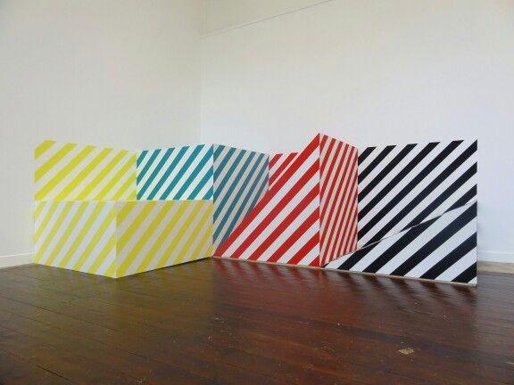 #MarijeVermeulen, Quattro Stagioni, 2014, #abstract #color #geometric-art #striping