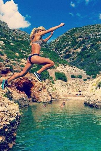 We love runner Emma Coburn's fun cross-training posts on Instagram.
