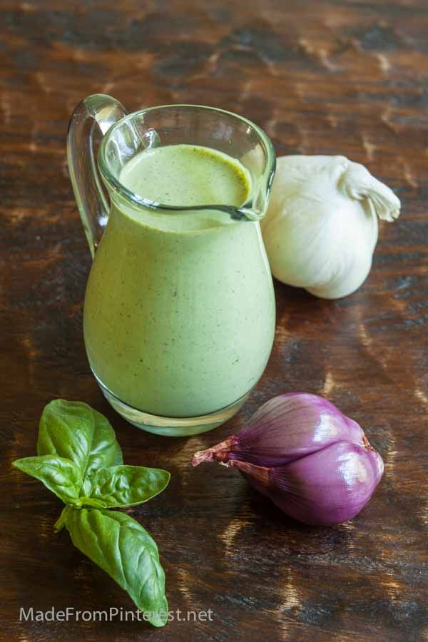 Creamy Basil Ranch Dressing - Made From Pinterest