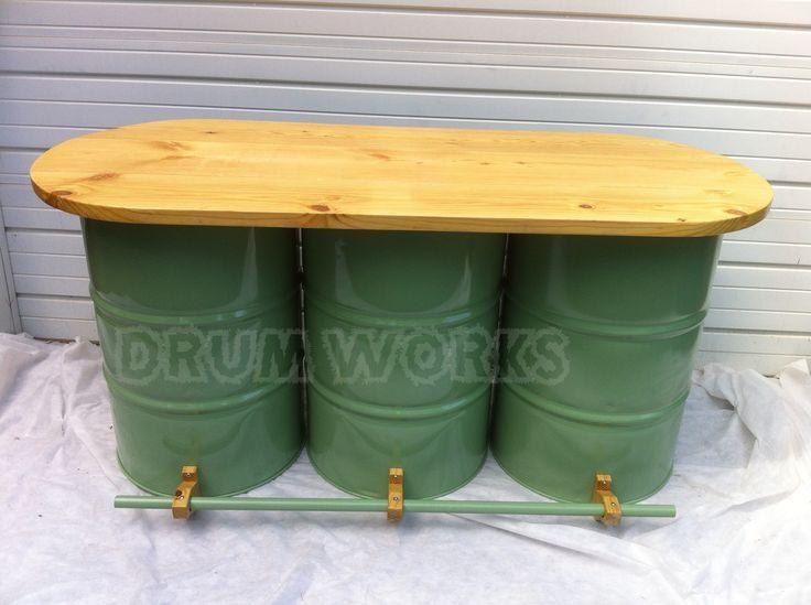 Barras De Bar Vintage Buscar Con Google Bar Pinterest Metal Drum Drums And Bar