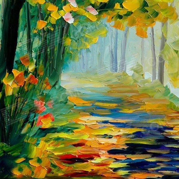 pinturas al oleo de arboles lindos