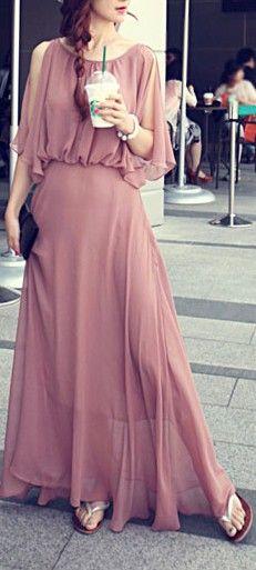 Goddess sheer maxi dress