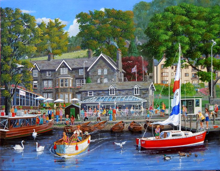 Ambleside. Acrylic painting for a jigsaw puzzle.