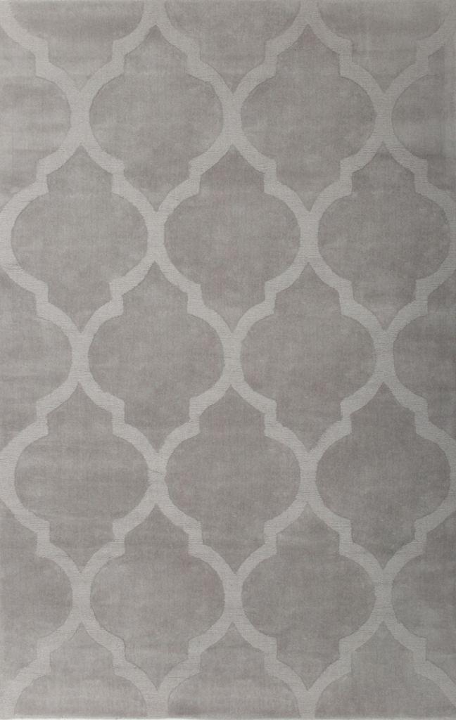 Elagancki dywan Victor jasnoszary z wełny.
