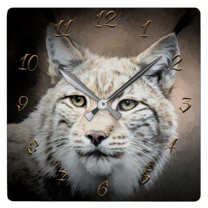 Lynx Square Wall Clock Photo gifts, Clock