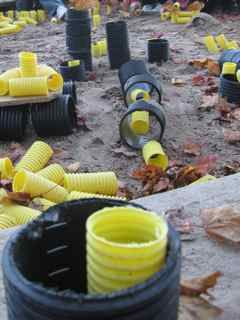 Loose parts for the playground ≈≈ http://www.pinterest.com/kinderooacademy/preschool-outdoor-play-environments/