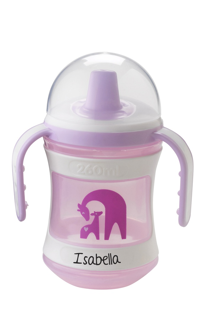 Tommee Tippee® discovera® Trainer Cup 6m+ #sippycup #tommeetippeeau #discovera #cutecup #isabella #pink #babyshower #giftregistry #cupwithhandles #giraffe #zoo