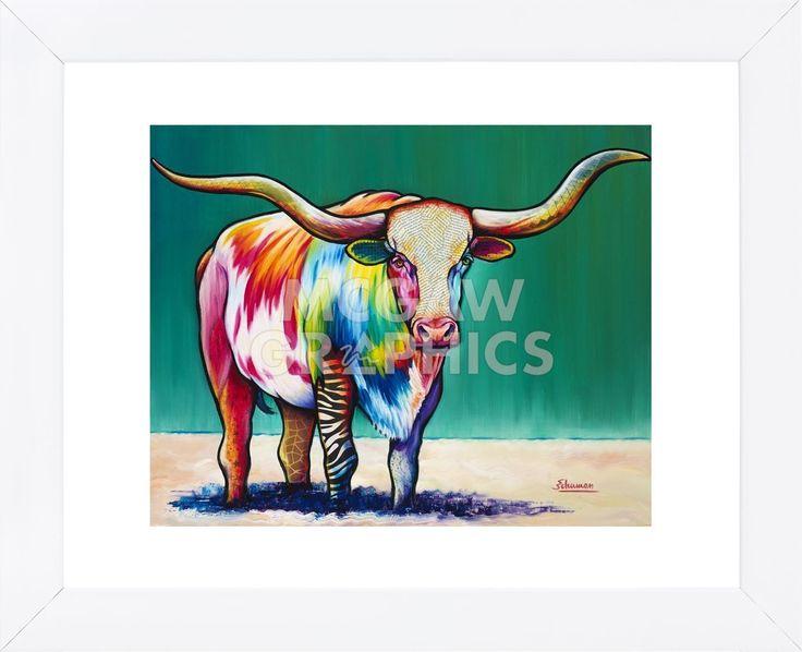 Longhorn Steer (Framed)