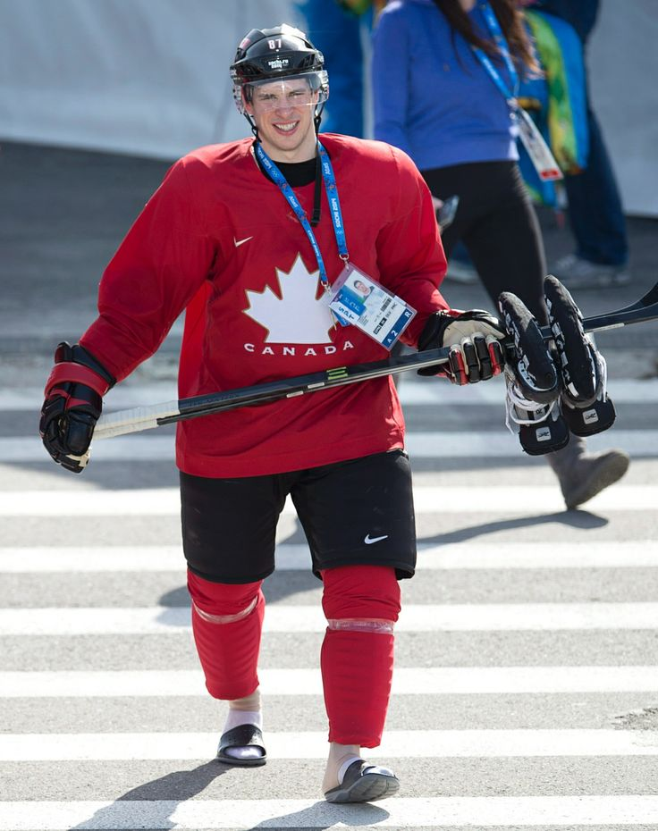 In Photos: Golden day on the ice for team Canada at Sochi Games    CTV News at Sochi 2014  ~~ Canada's Sidney Crosby walks back to the dressing room following practice at the Sochi Winter Olympics
