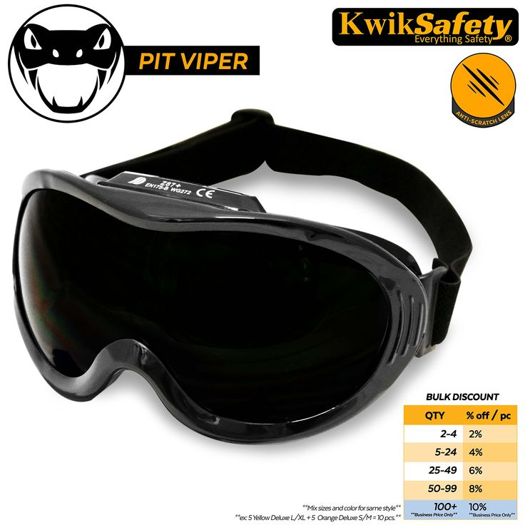 KwikSafety PIT VIPER ANSI Industrial (ANTI-FOG, ANTI-SCRATCH, Snug FIT) Welding Goggles   Flip Up Shade 5   Ventilation Infrared Welding Torch Brazing Soldering Flame Cutting Gas Oxy-Acetylene Black