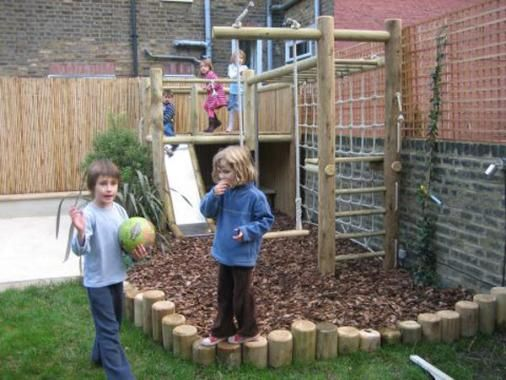 Wooden Climbing frame for small garden