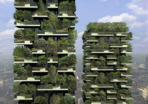 """Bosco Verticale or """"Vertical Forest"""" – Milan, Italy"""