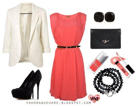 Y. A. Q. - Blog de moda, inspiración y tendencias: [Y ahora qué me pongo con] Un vestido color salmón