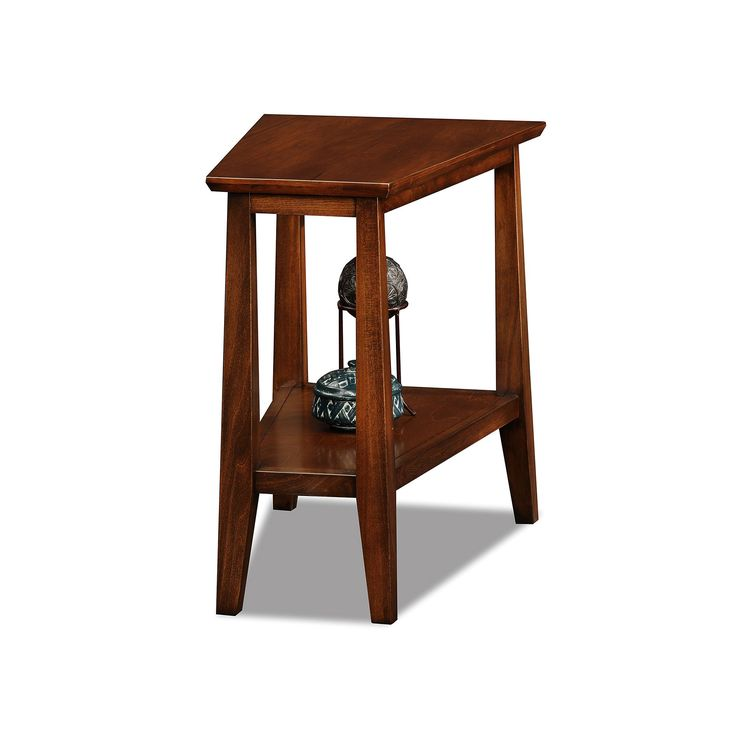 Leick Furniture Sienna Finish Wedge End Table, Other Clrs
