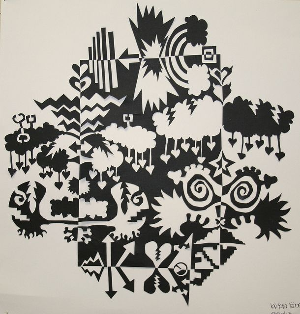 Notan Design- this takes my Henri Matisse positive negative project to a whole new level!