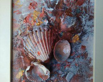 * Willkommen  .*.*. Muscheln party.*. *.  Abstrakt, Mischtechnik, Leinwand Kunst  Die erstaunliche Datum Muschel-Schalen mit Seepocken auf die Schalen (ich weiß nicht wie viele Jahre) wachsen sah wie kleine Blumen, nicht schwach, aber starke und ewig - für mich atemberaubend :)  Die Geschichte beginnt mit der einzigartigen Georgeus-Muscheln, die ich am Strand gefunden haben. Wenn ich sie zuhause mitgebracht, erkannte ich, dass sie die Leinwand zum Leben erwecken können  Vom Meer…