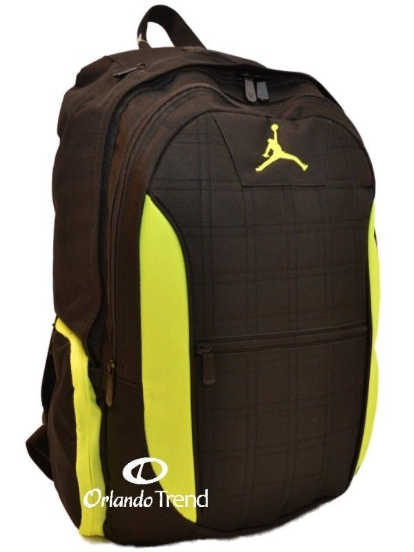 94c1df7d1849 ... nike air jordan large backpack black lime grn laptop sleeve jumpman 23  9a1137982 ...