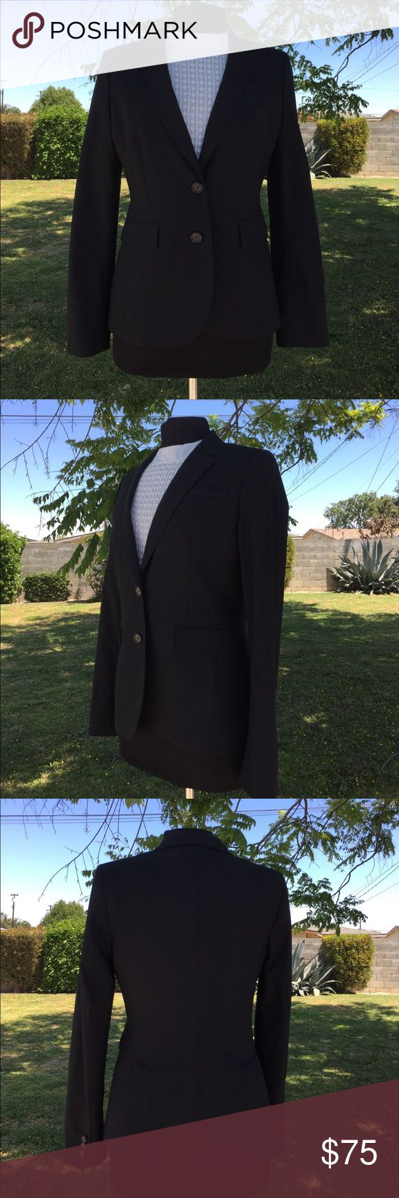 Banana Republic Black Wool Stretch Blazer 10 Banana Republic Black Wool Stretch Blazer 10 Banana Republic Jackets & Coats Blazers