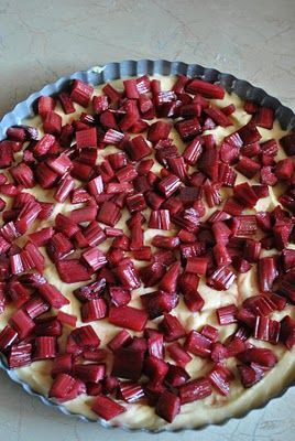 Finnish Rhubarb Tart now I know why I LOVE rhubarb!