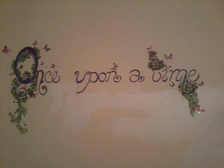 Wall mural for my daughters nursery...#onceuponatime