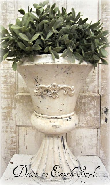 Down to Earth Style: Coffee Antiqued Urn