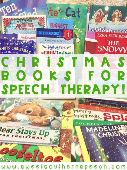 My favorite Christmas books to use in speech therapy for the holidays