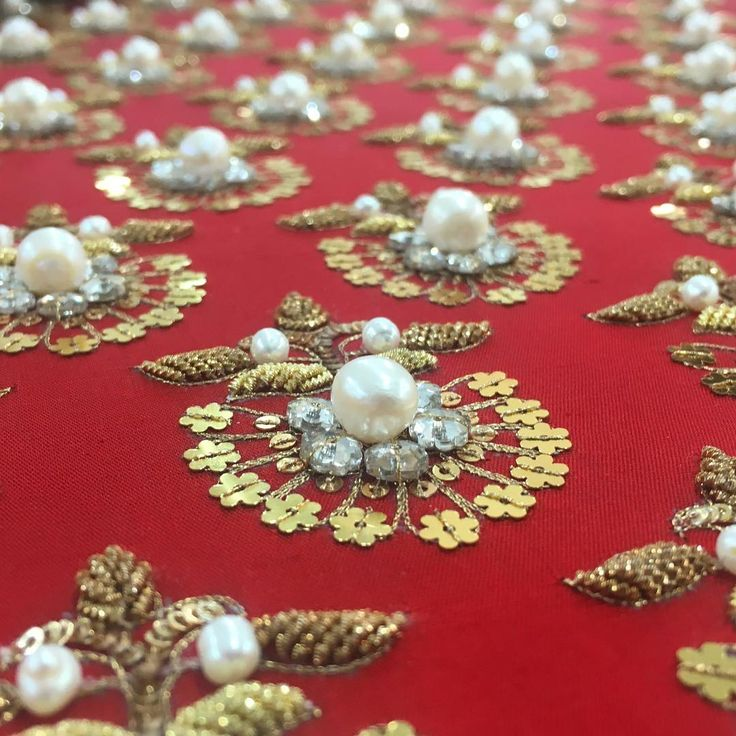 A Love Like Ours - Red, pearls, gold, crystals, sequins, and intense craftsmanship. The collection will be on the ramp tomorrow evening. #PLBW16