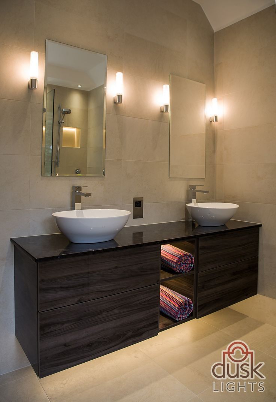 Bathroom lights bathroom wall lights artemis 900 rounded led strip - Astro Lighting Bari Ip44 Bathroom Wall Light In Polished Chrome 0340