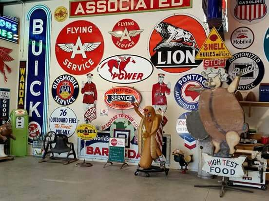 Porcelain Gas Oil Sign Collection Garage SignsVintage