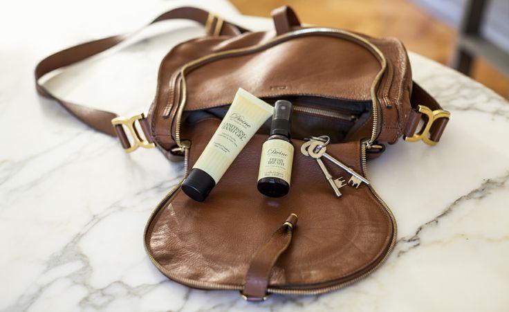 Handbag essentials: Sanitising Hand Gel and Fresh Breath Spray.  http://divinebytheresekerr.com/product-category/personal-hygiene/
