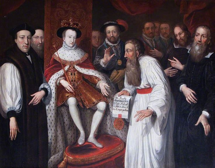 Edward VI Granting Permission to John a Lasco.jpg