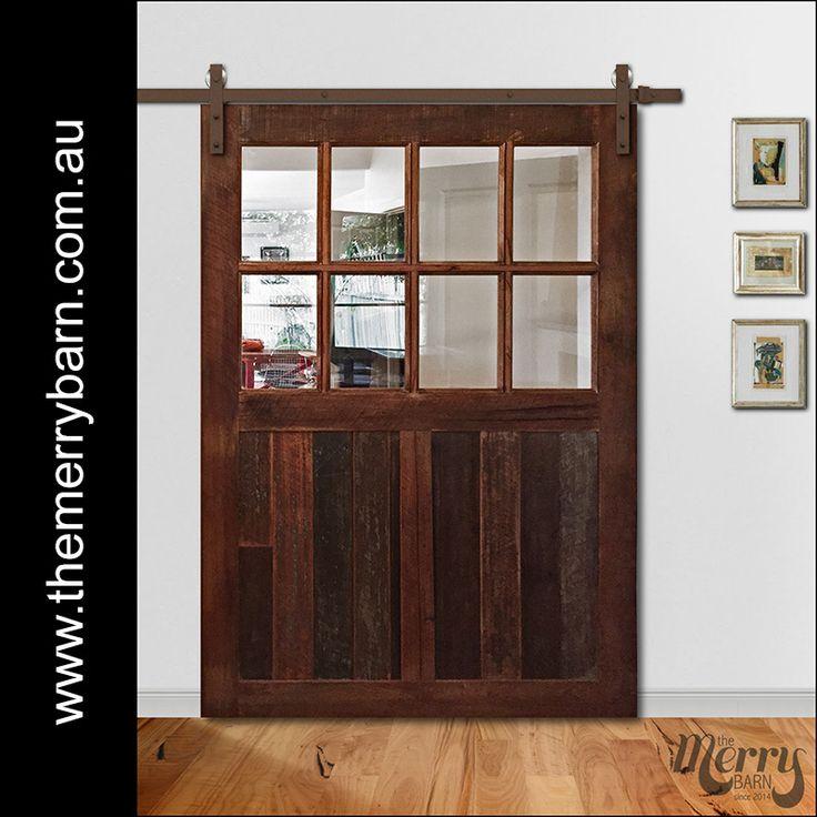 Reclaimed Australian timber barn door with glass. We ship Australia wide ) #barndoorsaustralia & 32 best BARN DOORS - by The Merry Barn images on Pinterest | Barn ...