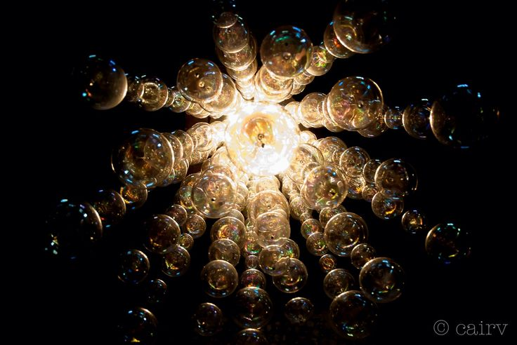 An ascension of luminous bubbles | Chandelier, Cairv Photography